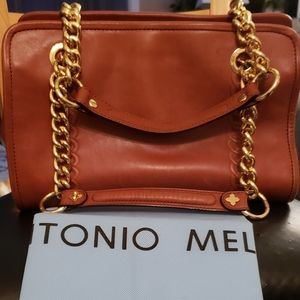 Antonio Melani Saddle Brown Leather handbag